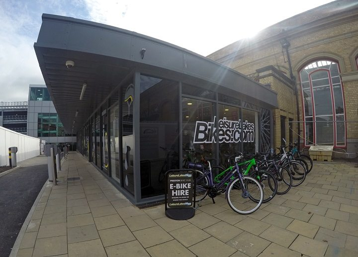 The new Leisure Lakes store at Preston Station, the bike hub is next door