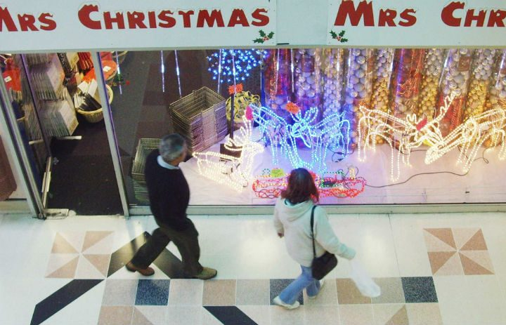 Mrs Christmas has taken up residency in the St George's Shopping Centre Pic: Tony Worrall