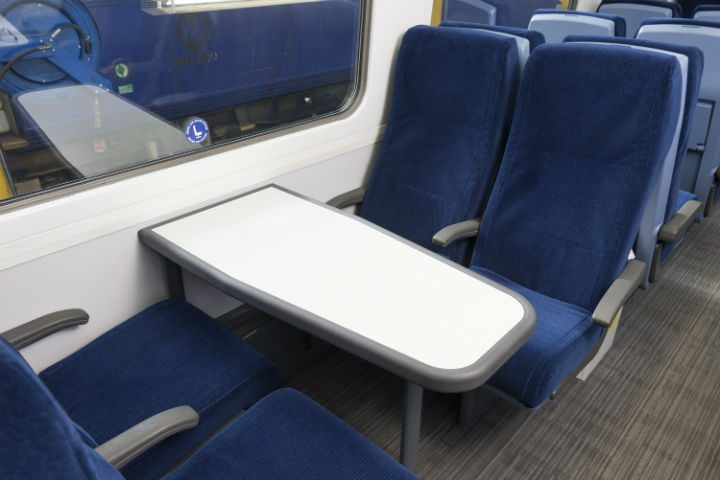 Recovered seats, not caked in chewing gum