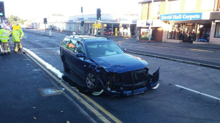 Second vehicle involved in the crash Pic: LancsRoadPolice