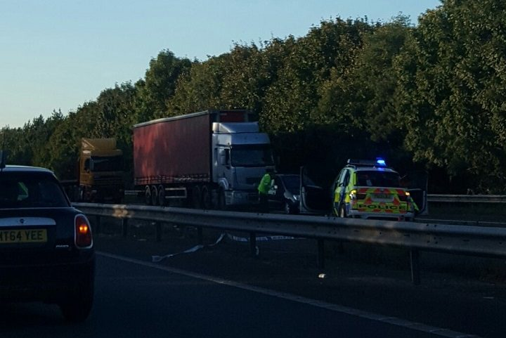 The scene on the M61 southbound Pic: HennaSheth