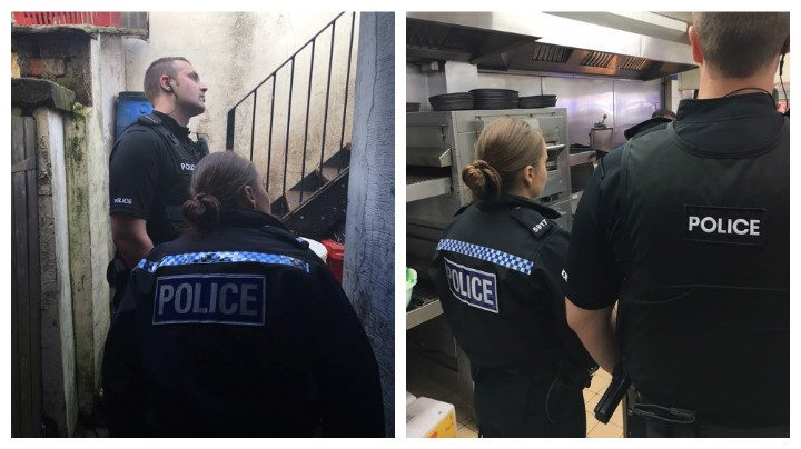 Police visiting premises in Preston during immigration checks