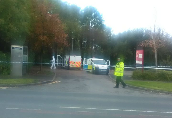 Police had maintained a presence outside the pub's grounds during Friday Pic: Murray Walker