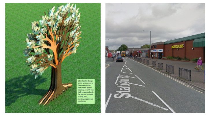 This is what the Bamber Bridge Tree will look like to be located in Station Road