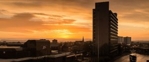 Sunrise over Preston, as viewed from the Bus Station Pic: John-Paul Walsh