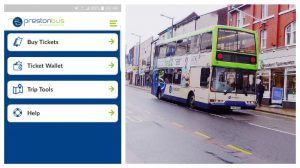 How the app looks which is being introduced for Preston Bus services Pic: 70023venus2009