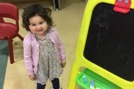 Pippa Cole pictured at Manchester Children's Hospital
