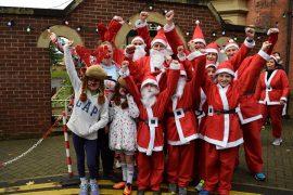 Ready to run? Santa Dash runners at last year's festival