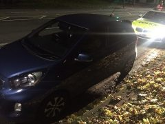Police stop a suspected stolen vehicle in Preston Pic: LancsRoadPolice