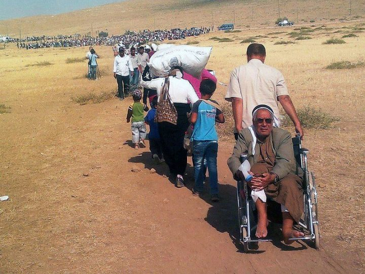 Massive influx of Syrian Kurdish refugees into Turkey Pic: EC/ECHO