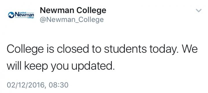 Newman College announces closure