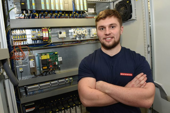 Brad Smith, the 2016 apprentice of the year at BAE Systems