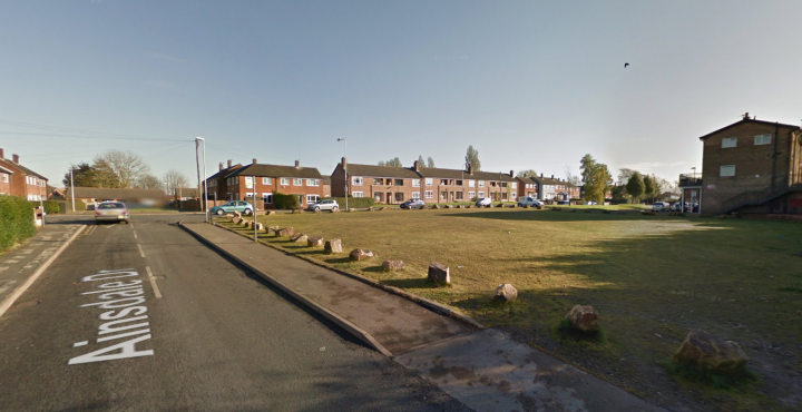 The empty land in Ainsdale Drive Pic: Google