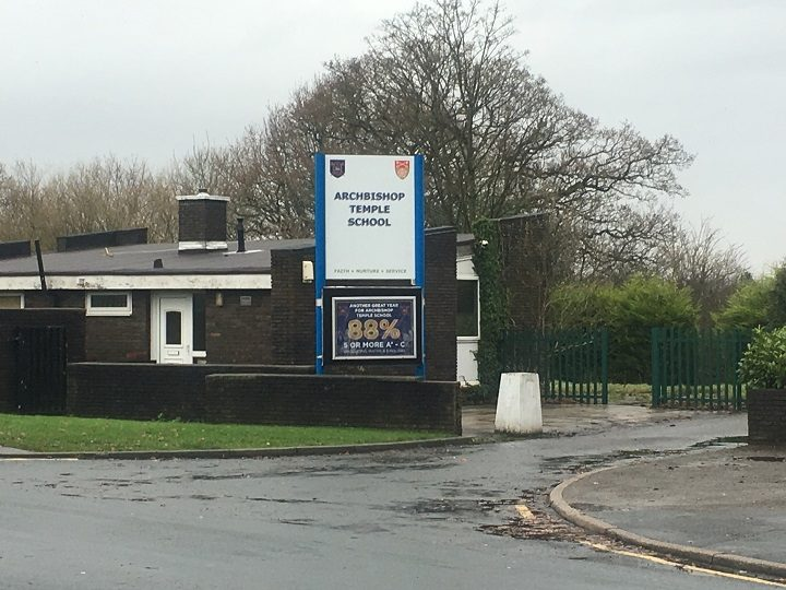 Archbishop Temple School in St Vincent's Road, Fulwood