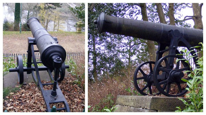 The cannons in the park