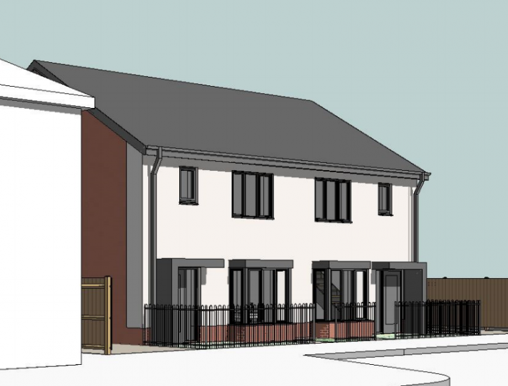 Artist impression of the Coniston Avenue homes