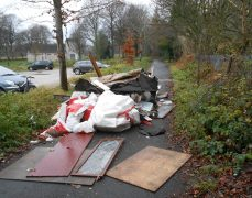 The rubbish was found dumped on Friday morning