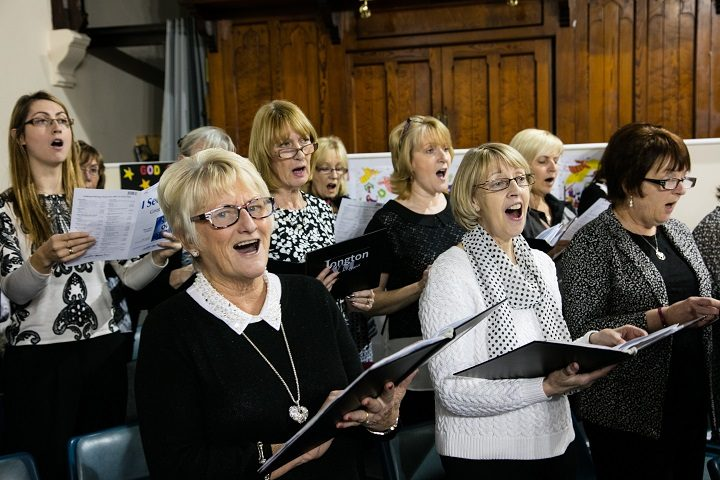 The KTB Choir in action