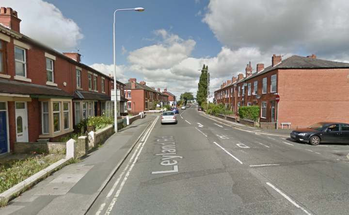 Leyland Road is closed near the junction of Fir Trees Avenue Pic: Google
