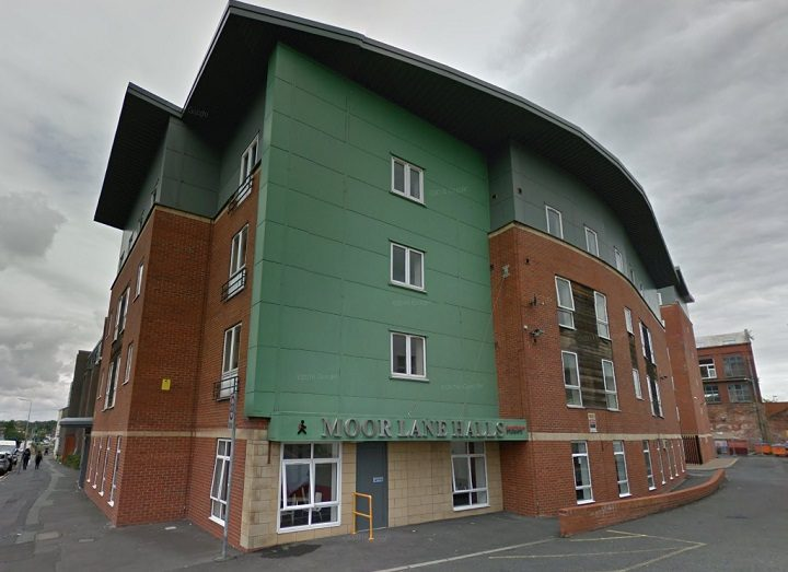 Student halls in Moor Lane where the incident took place Pic: Google