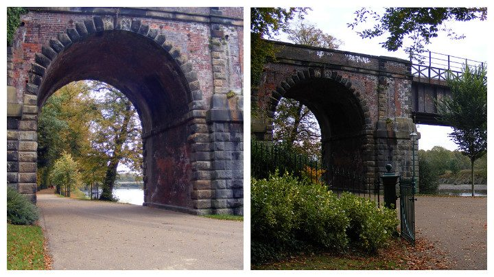 The railway bridge in the park