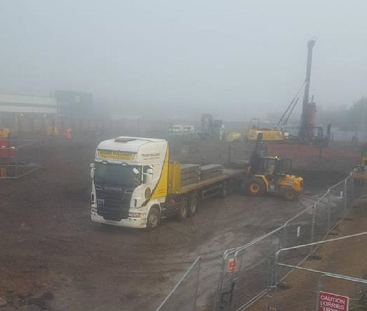 In the mist, is Morrisons Pic: Andy Spearitt