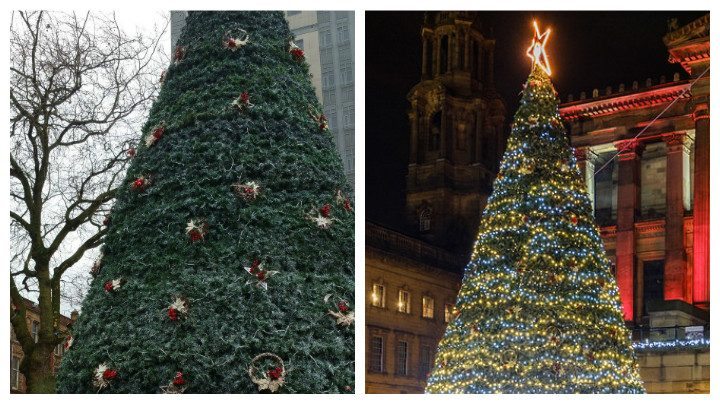 The Christmas Tree has been vandalised
