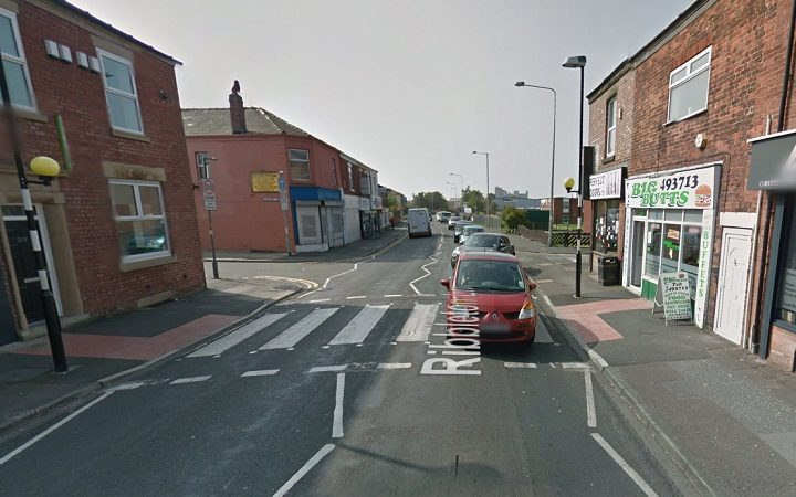 The zebra crossing in Ribbleton Lane where the incident happened Pic: Google