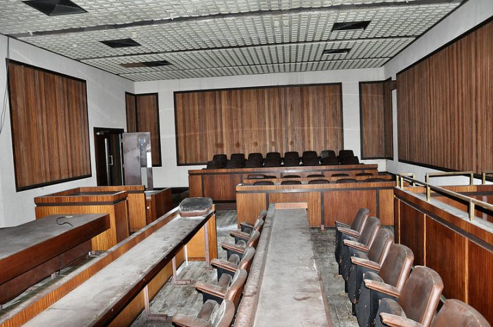 Inside the former law courts Pic: Paul Swarbrick