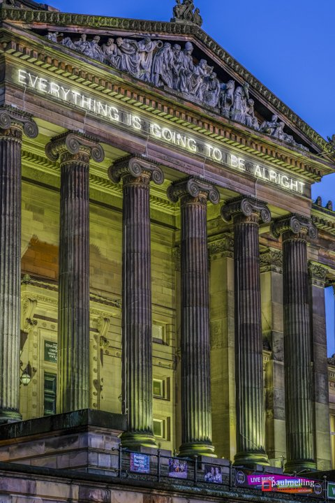 The grade-I listed building has a new temporary addition Pic: Paul Melling