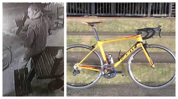 A CCTV picture released and a bike similar to the one taken