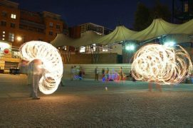 Fire spinning is due to take place