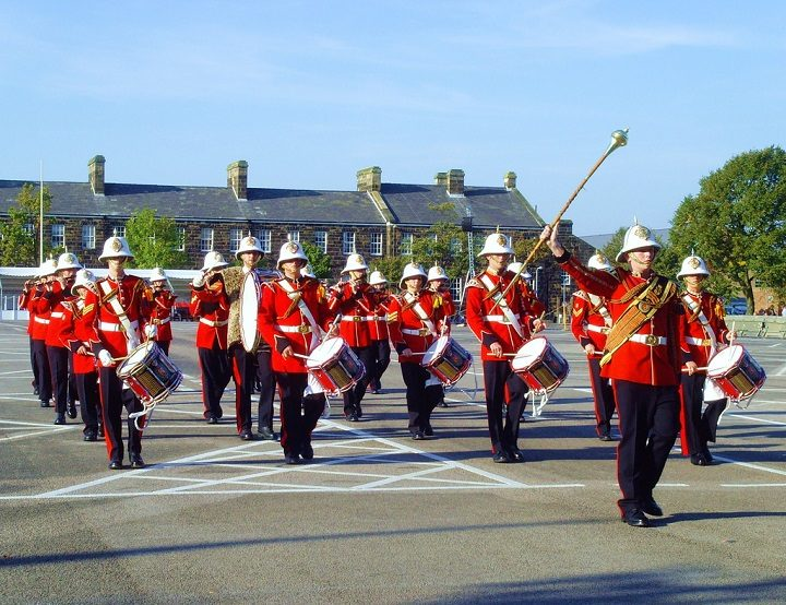 Marching band at Fulwood Barracks Pic: Tony Worrall