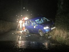 The car being taken away after the crash near Grimsargh Pic: LancsRoadPolice