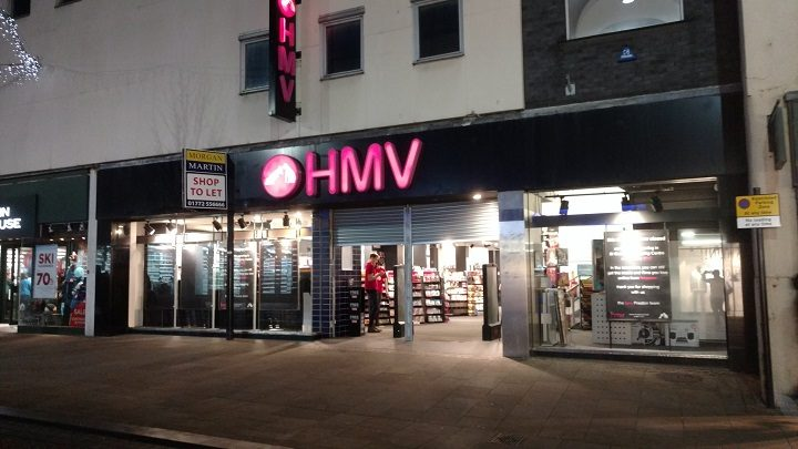 Final closing up at HMV in Preston