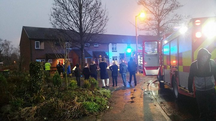 Neighbours watch fire service at work Pic: Jayde Andrews