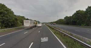 Heading south on the M6 near junction 32 Pic: Google