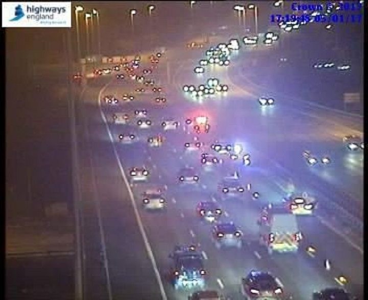 Incident on the M6 near Preston