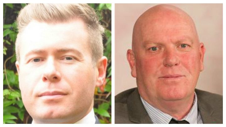 Cllr Moore (left) wants county councillor Fillis to explain himself