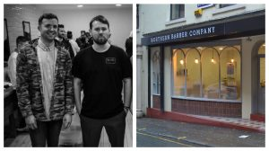 Rob Robinson and Dan Kean are behind the new barbers