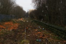 The old railway line is being uncovered Pic: Simon Holmes