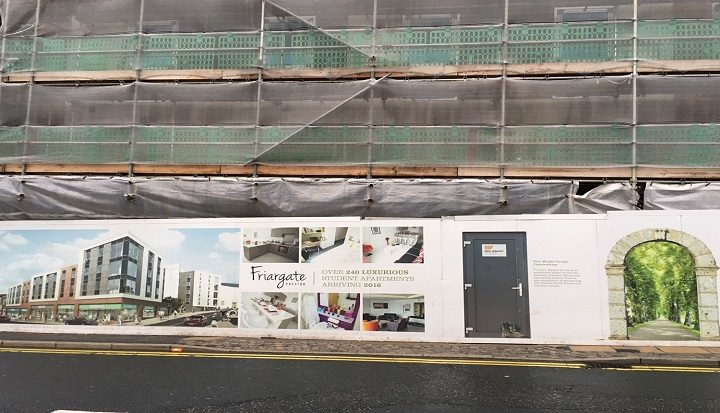 New flats being built in Friargate are funded by the Lancashire Pension Fund