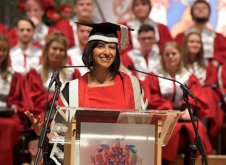 Ranvir Singh addresses Preston Guild Hall
