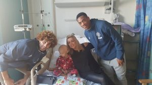 Fellaini and Martial visited Frankie and mother Sandra in hospital before Christmas