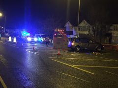 The scene in Blackpool Road during Valentine's Day evening Pic: LancsRoadPolice