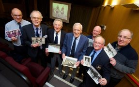 From left to right Phillip Parramore, Russell Hogarth, Eric Jones, Peter Higham, Phil Gittins, Ian Rigby and Malcolm Rae