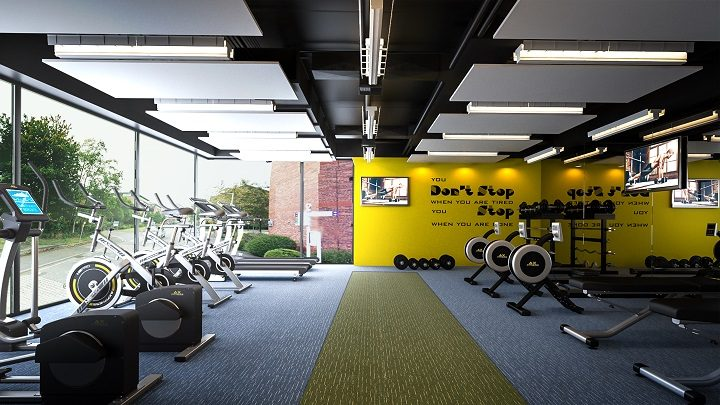 A view inside the proposed gym at Innovation House