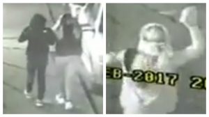 Stills from the video footage at the mosque