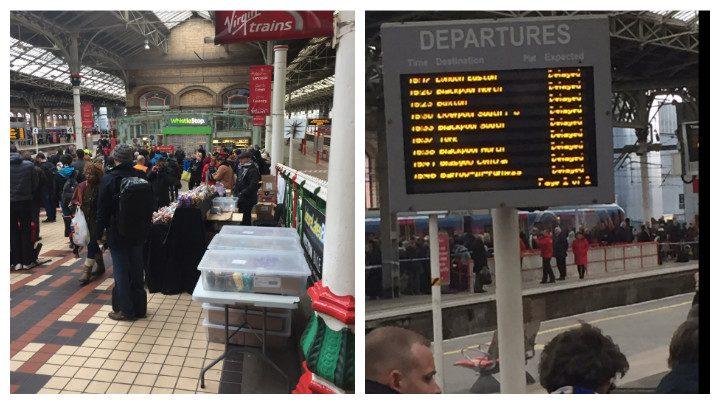 Queues at Preston Station and cancelled trains Pic: Molly Brewer