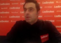Ronnie O'Sullivan during the post-match interview